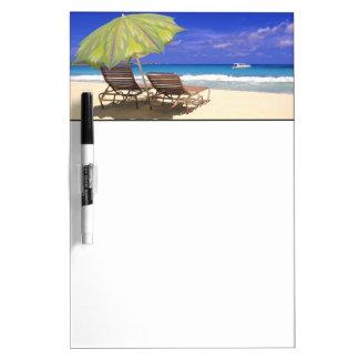 Beach Umbrella, Abaco, Bahamas Dry-Erase Board