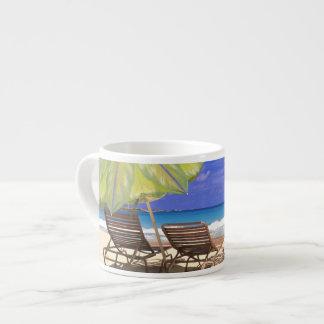 Beach Umbrella, Abaco, Bahamas Espresso Cup