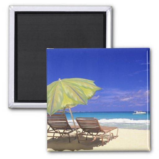 Beach Umbrella, Abaco, Bahamas Fridge Magnet