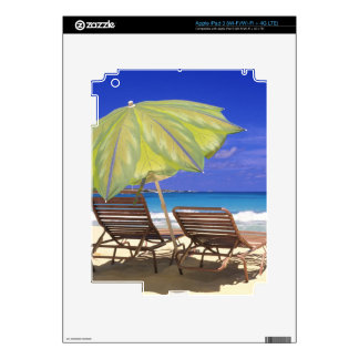 Beach Umbrella, Abaco, Bahamas iPad 3 Decal