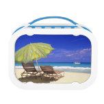 Beach Umbrella, Abaco, Bahamas Lunch Box
