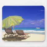 Beach Umbrella, Abaco, Bahamas Mouse Pad
