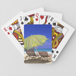 Beach Umbrella, Abaco, Bahamas Playing Cards