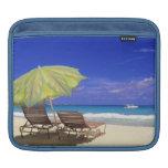 Beach Umbrella, Abaco, Bahamas Sleeve For iPads
