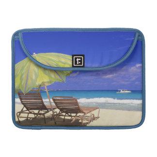 Beach Umbrella, Abaco, Bahamas Sleeve For MacBook Pro