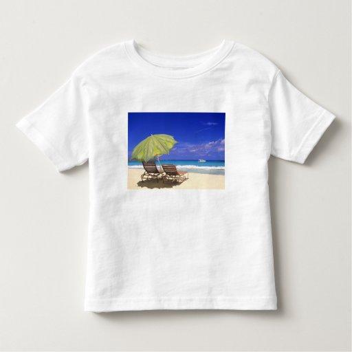 Beach Umbrella, Abaco, Bahamas T-shirts