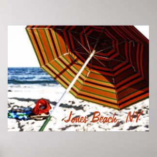 """Beach Umbrella Glow"", Jones Beach Poster"