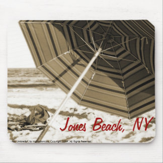 """Beach Umbrella"" Jones Beach, NY Mousepad"