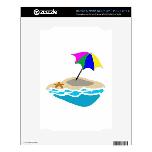 Beach Umbrella NOOK Decal