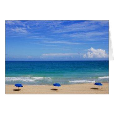 Beach Themed Beach Umbrella Ocean Card