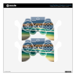 Beach umbrella on sea background skins for PS3 controllers