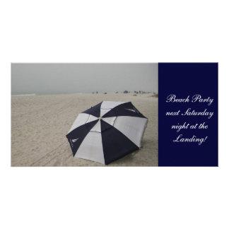 Beach Umbrella Photo Cards