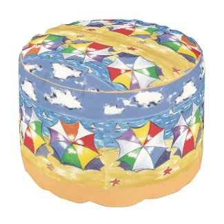 Beach Umbrella Round Pouf