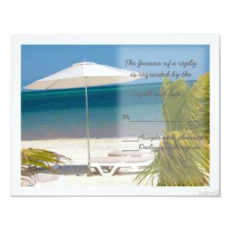 beach umbrella rsvp card