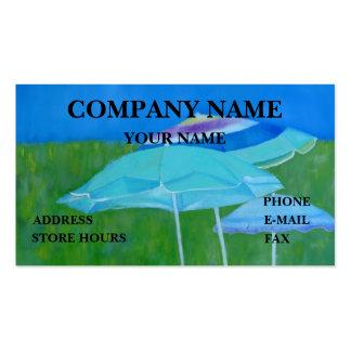 BEACH UMBRELLAS - BUSINESS CARD