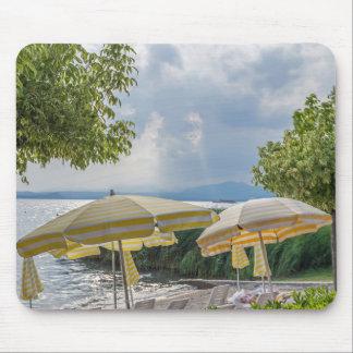 Beach umbrellas mousepad