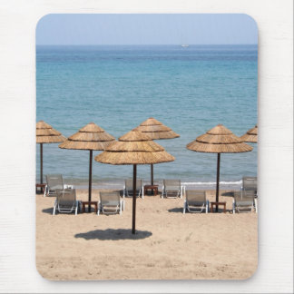 Beach Umbrellas Mouse Pad