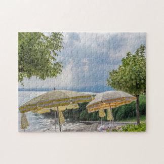 Beach umbrellas photo puzzle