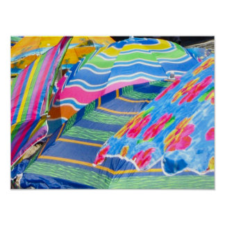 beach umbrellas print