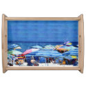 Beach Umbrellas Serving Platters