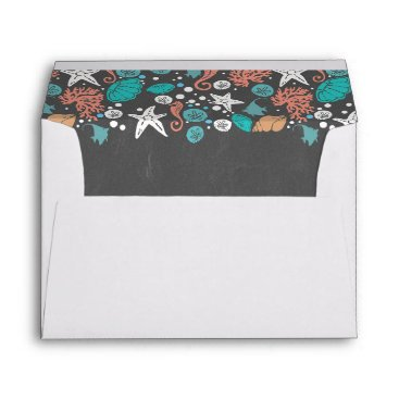 Beach Themed Beach Underwater Treasures Chalkboard Envelope