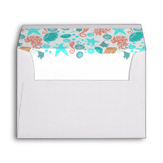 Beach Underwater Treasures Elegant White Envelope