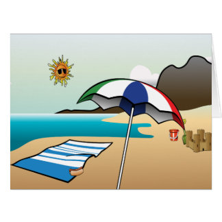 Beach Vacation Big Greeting Card