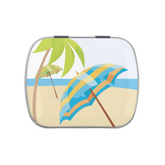 Beach Vacation Jelly Belly Candy Tin