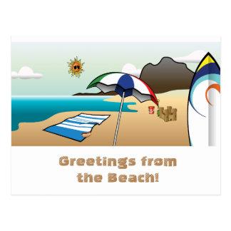 Beach Vacation Greeting Postcard