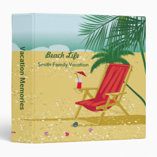 Beach Vacation Memories Binder