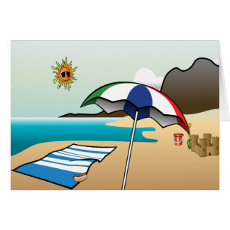 Beach Vacation Note Card