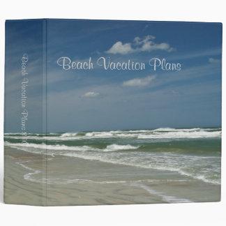 "Beach Vacation Plans 2"" 3 Ring Binder"