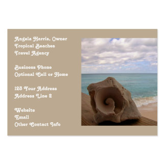 Beach Vacation Travel Agency Large Business Cards (Pack Of 100)