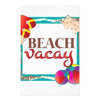 Beach Vacay Stationery