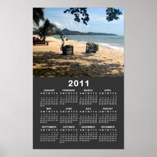 Beach Vendings 2011 Calendar .. Ko Samui, Thailand Poster