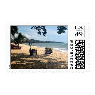 Beach Vendings ... Lamai Beach, Koh Samui Island Postage