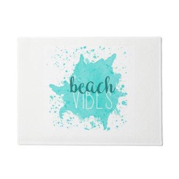 Beach Themed Beach Vibes Door Mat