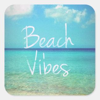 Beach vibes square sticker