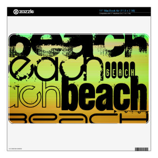 Beach; Vibrant Green, Orange, & Yellow Skin For The MacBook