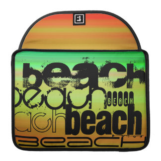 Beach; Vibrant Green, Orange, & Yellow Sleeve For MacBooks