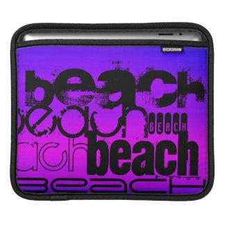 Beach; Vibrant Violet Blue and Magenta iPad Sleeves