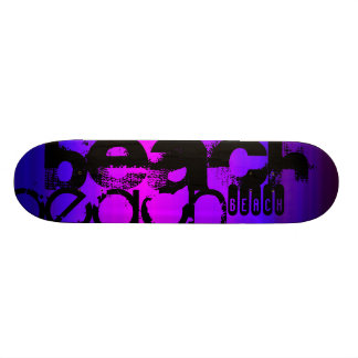 Beach; Vibrant Violet Blue and Magenta Skateboard Decks