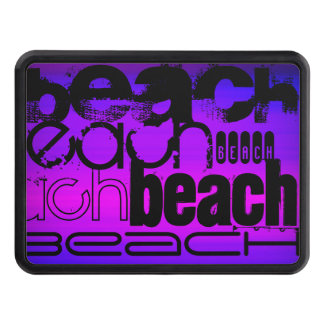 Beach; Vibrant Violet Blue and Magenta Trailer Hitch Covers