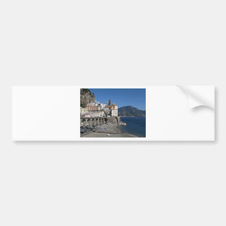 Beach view from Atrani Bumper Sticker