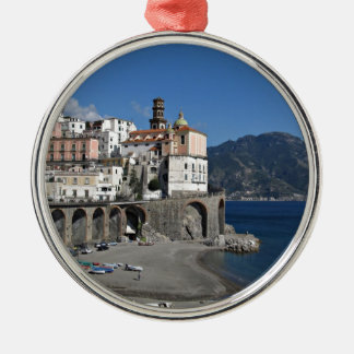 Beach view from Atrani Metal Ornament