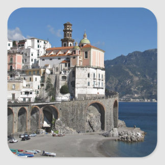Beach view from Atrani Square Sticker