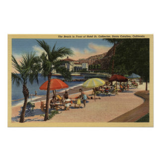 Beach View in Front of Hotel St. Catherine Poster