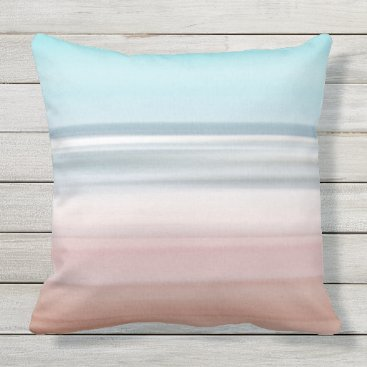 Beach Themed Beach View Outdoor Pillow