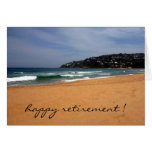 beach view retirement greeting cards