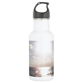 Beach view stainless steel water bottle